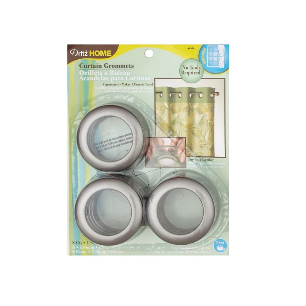 Curtain Grommets 8 Pack Pewter 1 9 16 Grommet Curtains