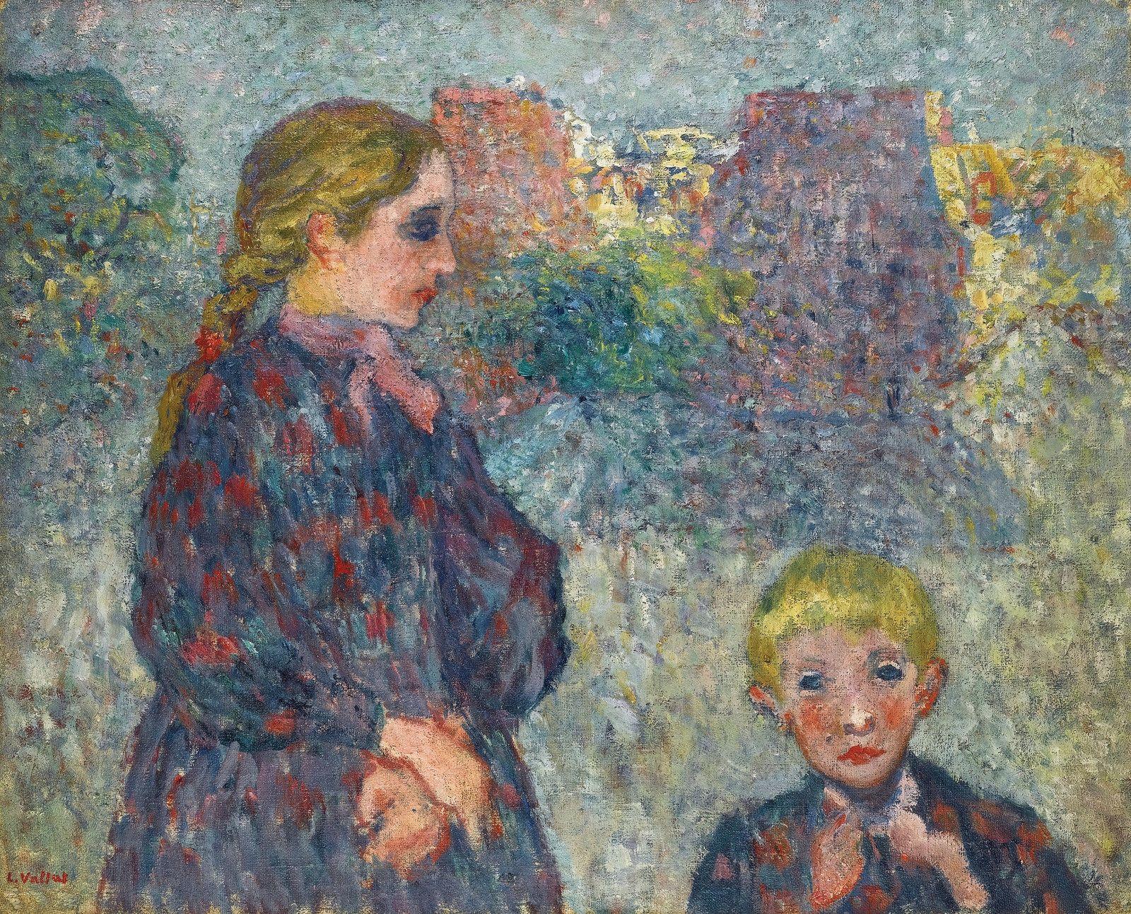 Two Children on the Beach, 1895. Louis Valtat