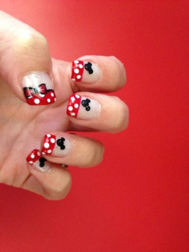 Disney nails @Anna Stoecker   Hair, Nails, Make-up, etc.   Pinterest