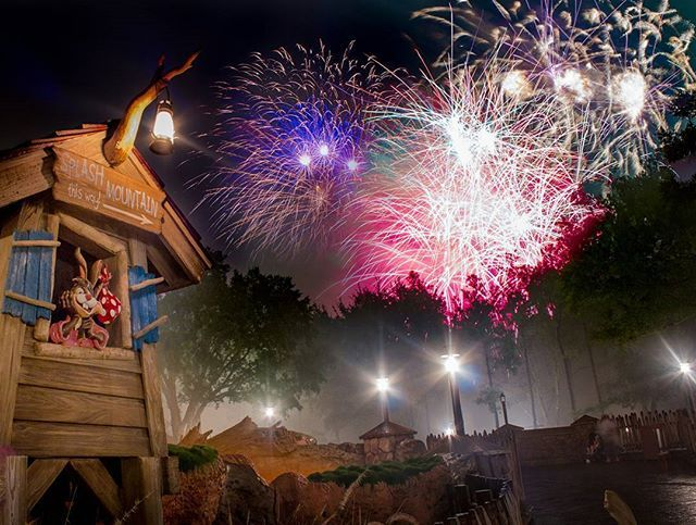 Brer rabbit  has the best view of Wishes. The smoke that filled the area killed my finale shot here. Also I was holding a umbrella under the rain Sunday night.  Anyway thought I would share it here.