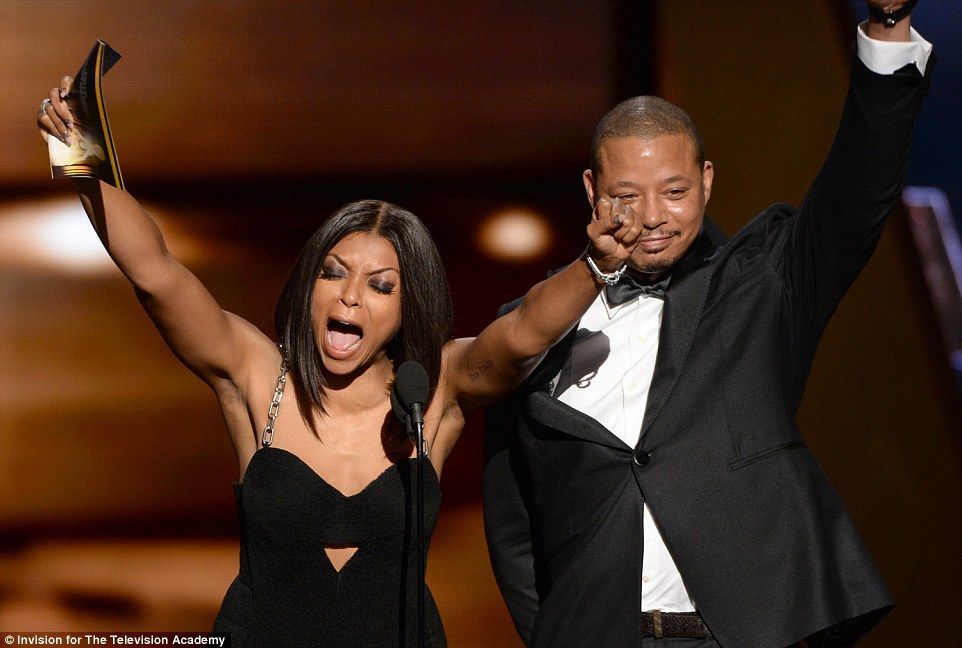 Thrilled: Empire star Taraji P. Henson celebrated as she and Terrence Howard announced Reg...