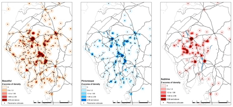 An Example Of Research Using Text Analysis And Gis Maps Showing