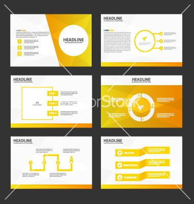 Gold presentation templates infographic elements vector   GFX design ...