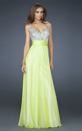 Light Lime Sequin Two Strap Yellow Prom Dresses Sale 2013 ...