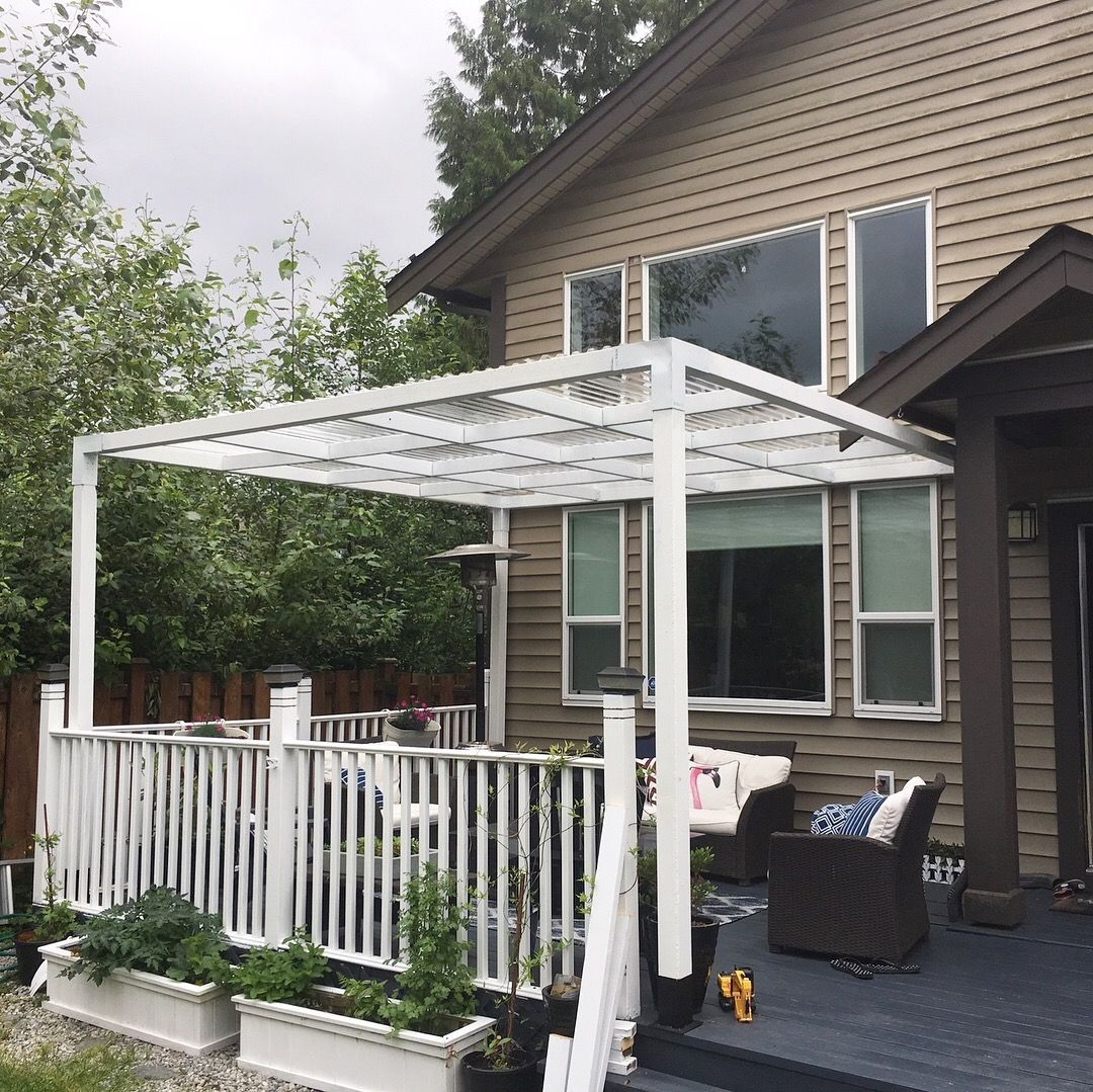 Rainy Bc Chimes In With A Fantastic Build Painted The Posts And The Brackets White Added Cross Members And What Pergola Kits Pergola Ideas For Patio Pergola