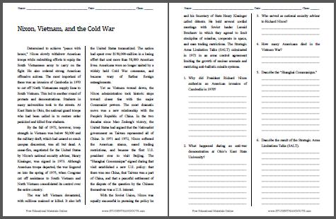 30++ Better vietnam war worksheets pdf Awesome
