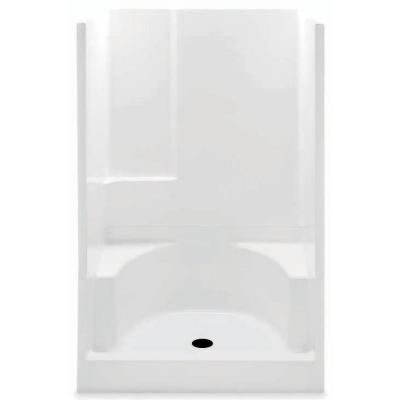 Two Piece Shower Stalls.Aquatic Remodeline 48 In X 34 In X 72 In Gelcoat 2 Piece