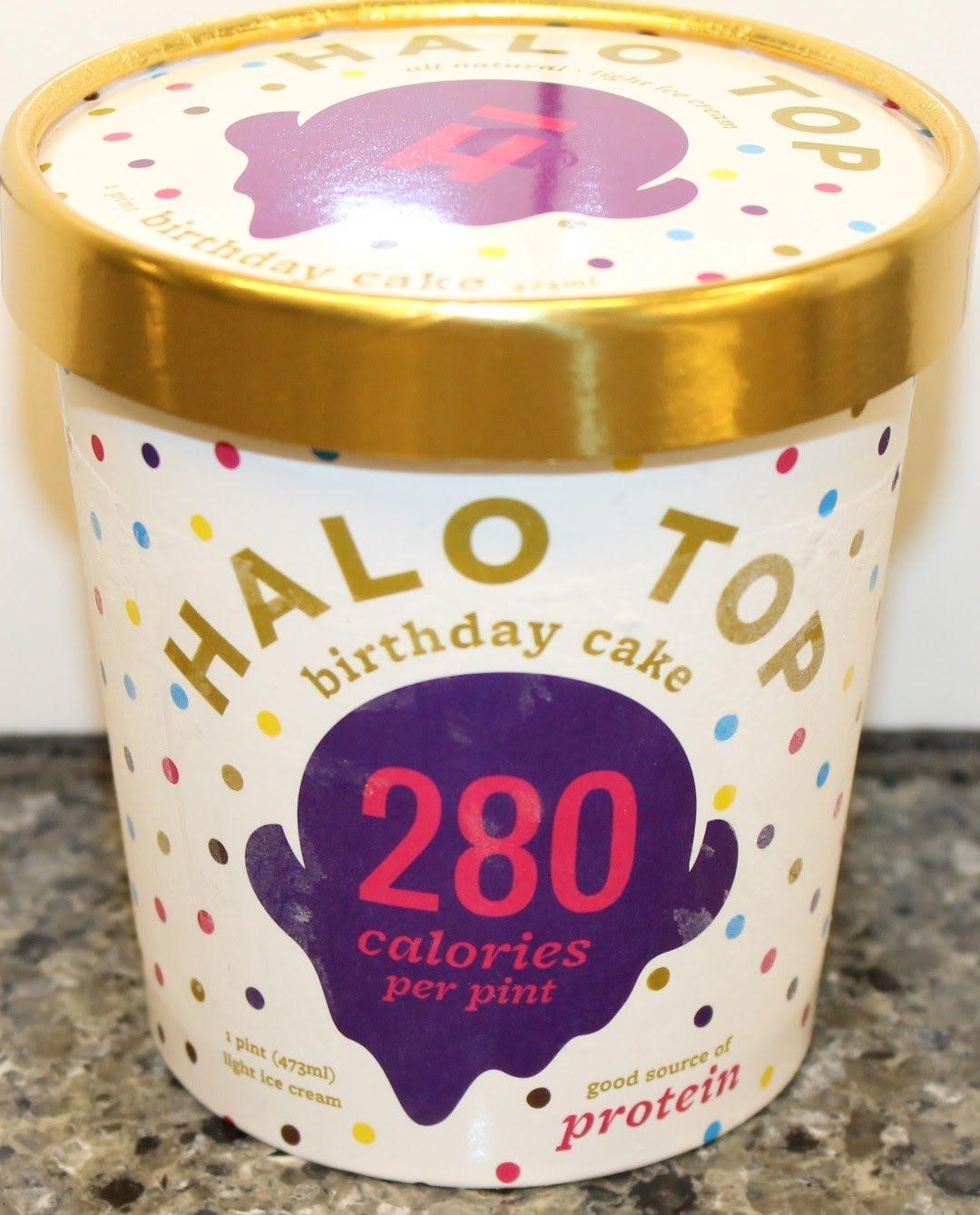 Halo Top Birthday Cake Ice Cream Review Youtube Pinterest