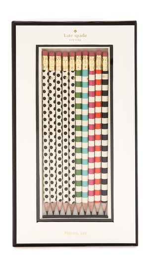Kate Spade dotted pencils