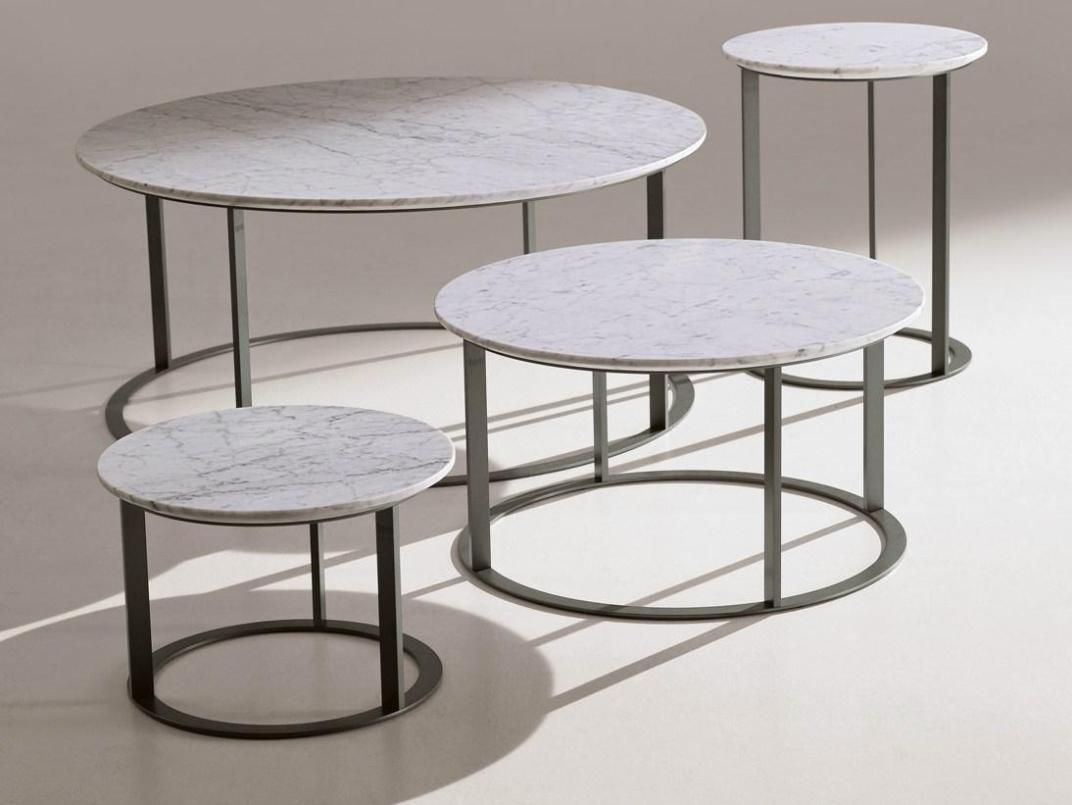 Luxury Round Marble Coffee Table Modern