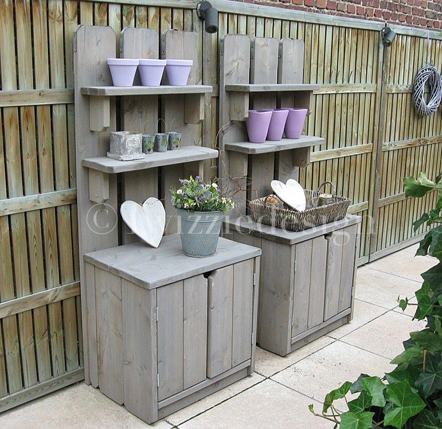 Twizziedesign steigerhout tuinkasten leuk voor in de for Decoratie vlinders voor in de tuin