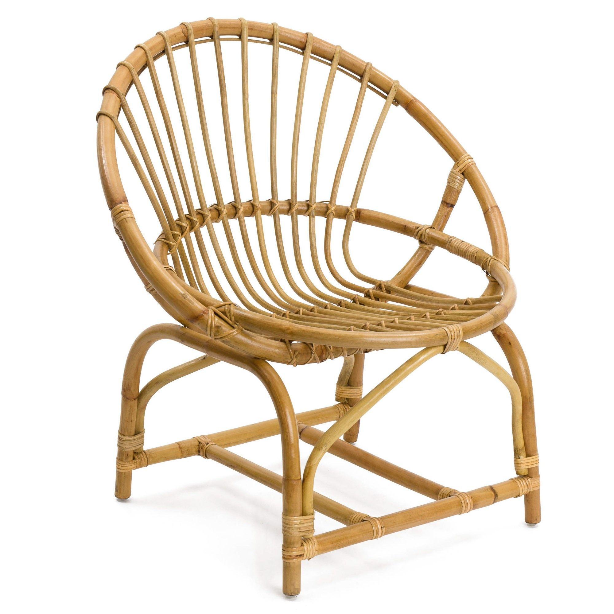 Gartenstühle Rattan Holz Classic Round Backed Wicker Chair Handcrafted From 100 Rattan