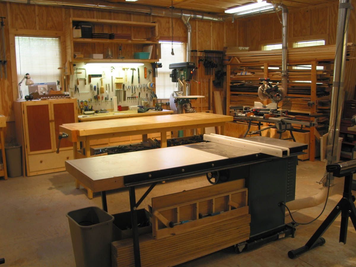 Woodworking shop ideas wood shop floor plans for Shop plans and designs