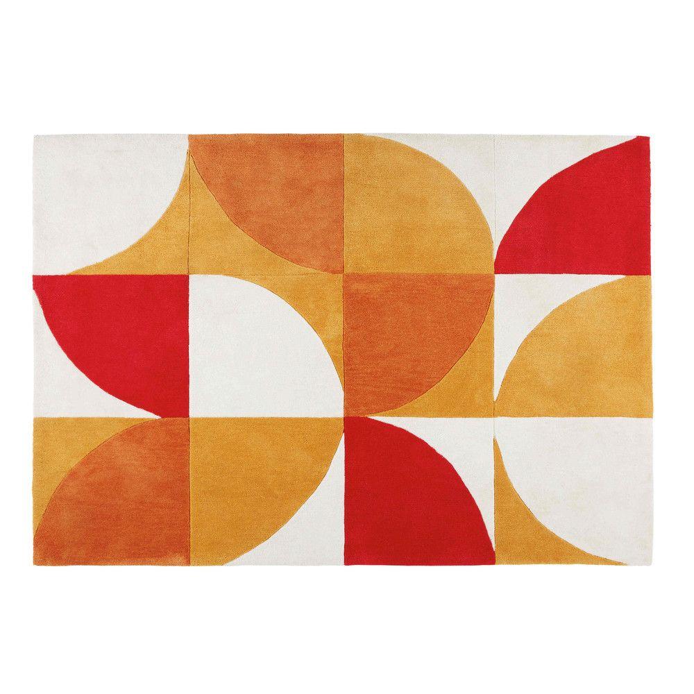 Tapis rétro motifs tricolores ...