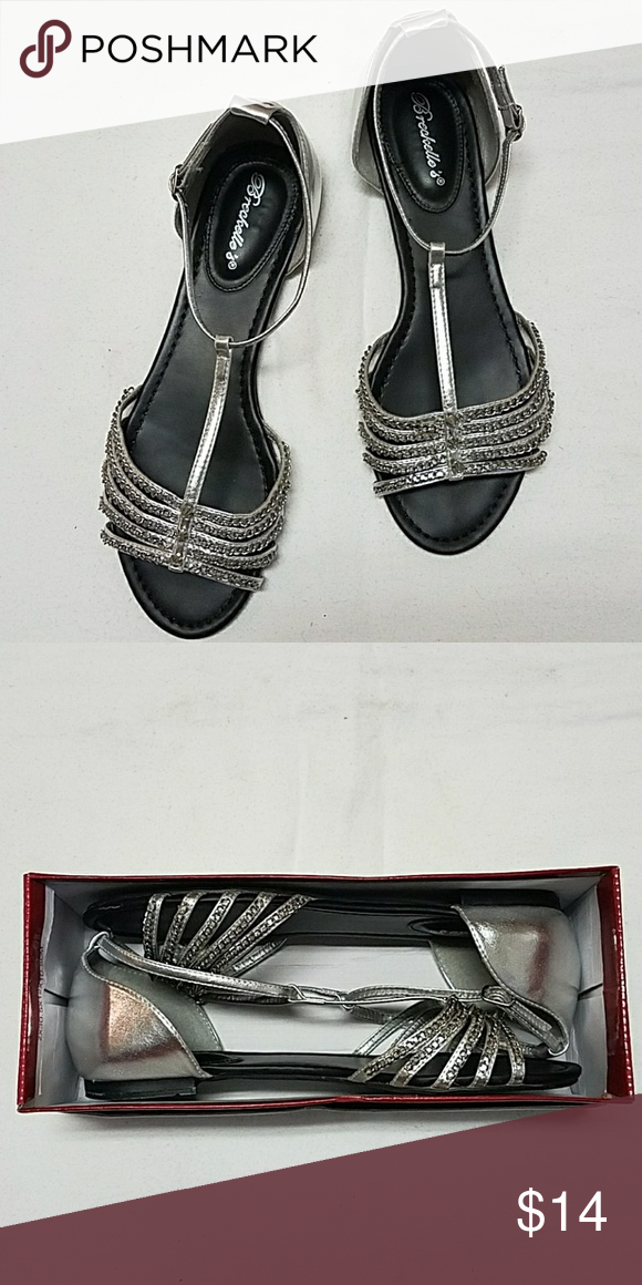 89df94aa6ae Shoes Silver color. Studded with chains. Side buckle access. One chain is  slightly loose. Dosent affect style and function. Comes with box. Shoes  Sandals