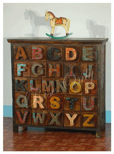 Furniture · Rise Only reclaimed recycled wood ABCD drawer chest furniture  india jodhpur