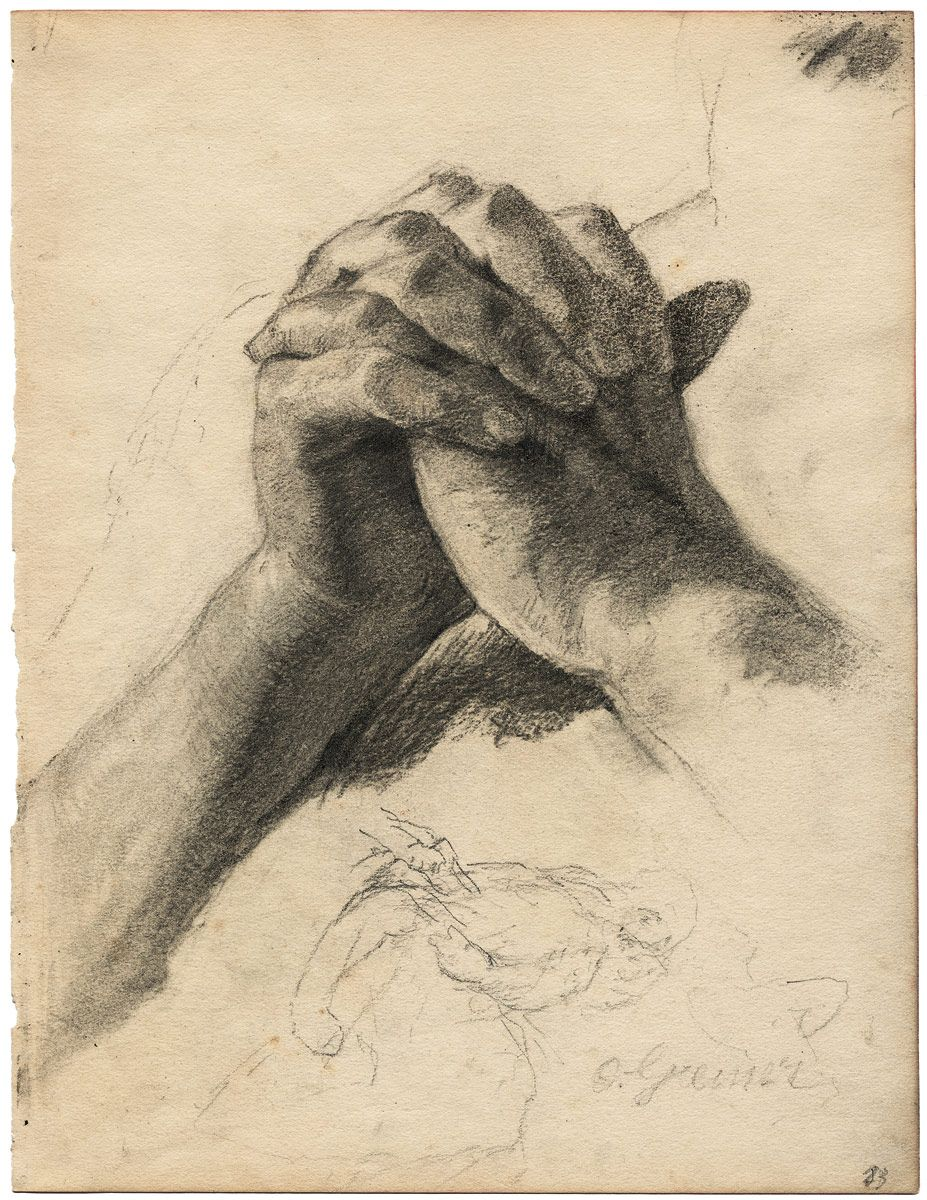 Otto Greiner Betende - Clasped/praying hands | How to draw ...