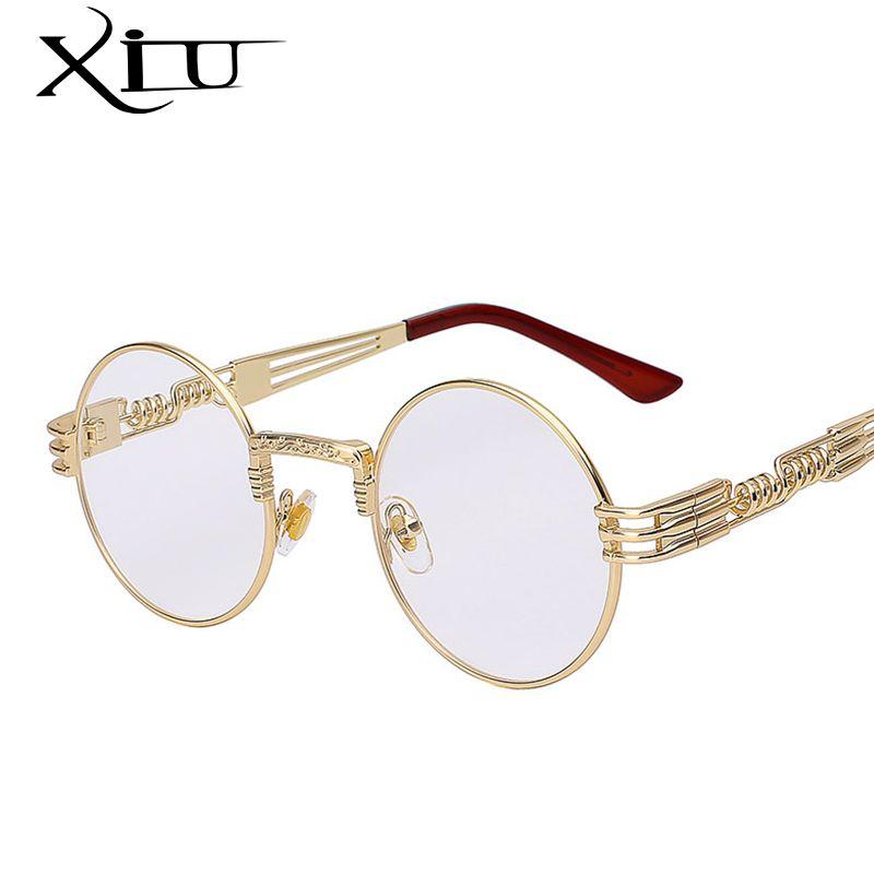 Gold Metal Oval Frame Designer Clear Lens Men Women Migos Eyeglasses Sunglasses