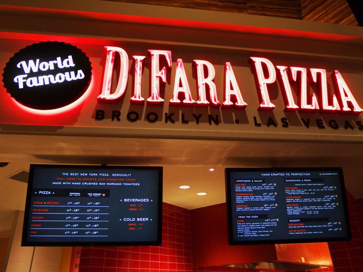 Behold! The DiFara Pizza Menu at Caesars Palace | Vegas Trip ...