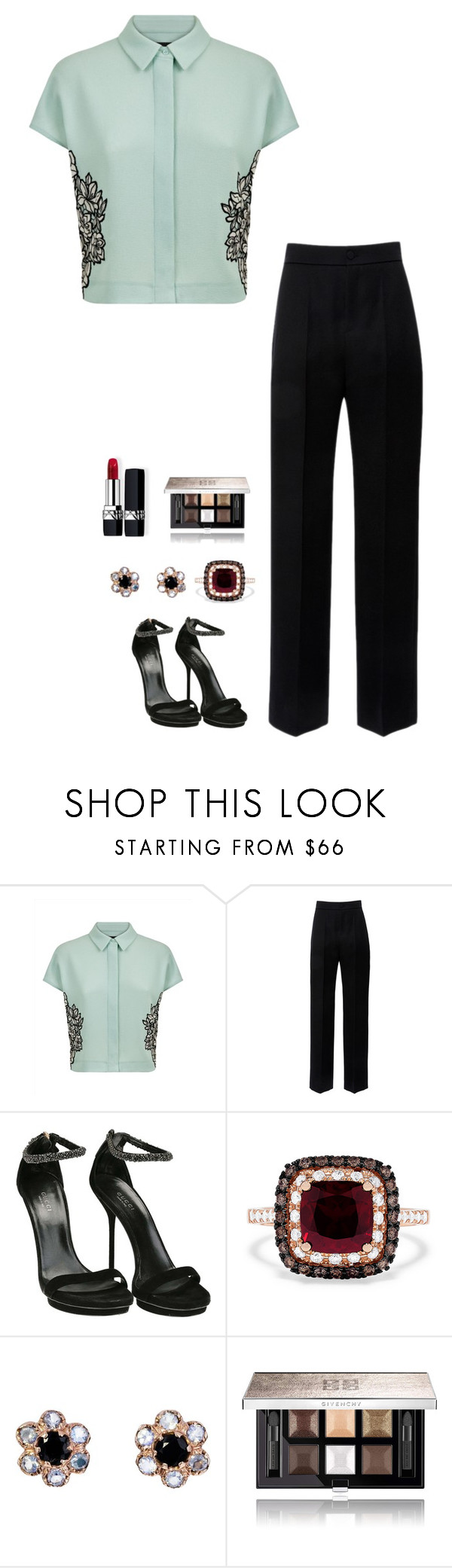 """Untitled #1112"" by h1234l on Polyvore featuring Jaeger, Lanvin, Gucci, Effy Jewelry, Arik Kastan, Givenchy and Christian Dior"
