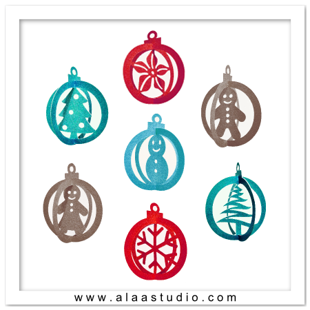 3d christmas ornaments svg dxf pdf cutting files by alaa for 3d christmas decoration templates