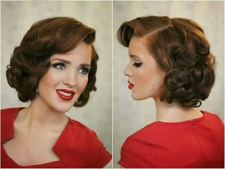 Image Result For How To Do 1940s Hairstyles For Short Hair And Fascinator Short Wedding Hair Gatsby Hair 1940s Hairstyles