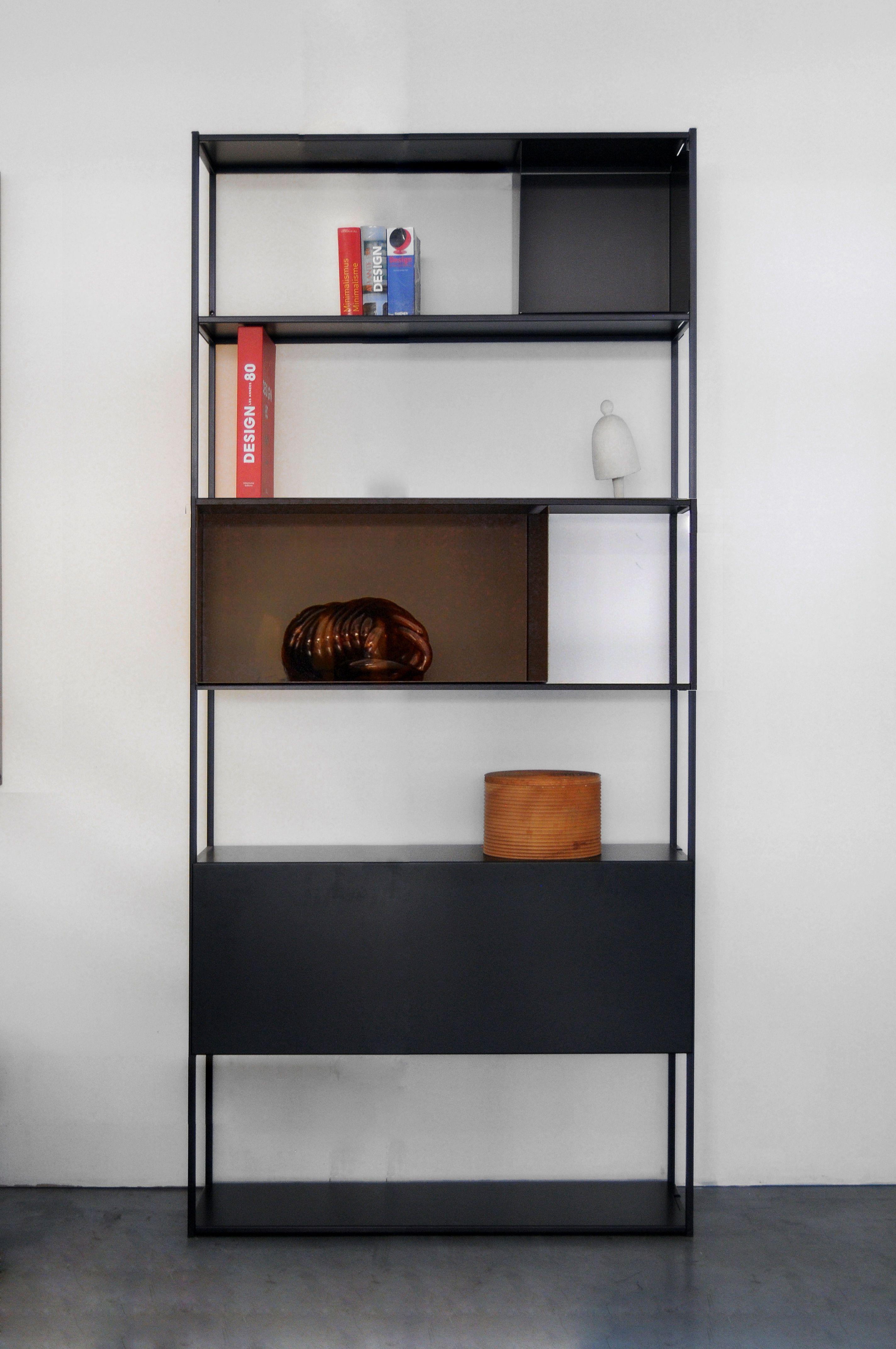 Bibliotheque Easy Irony Zeus Marron Noir Cuivre Made In Design