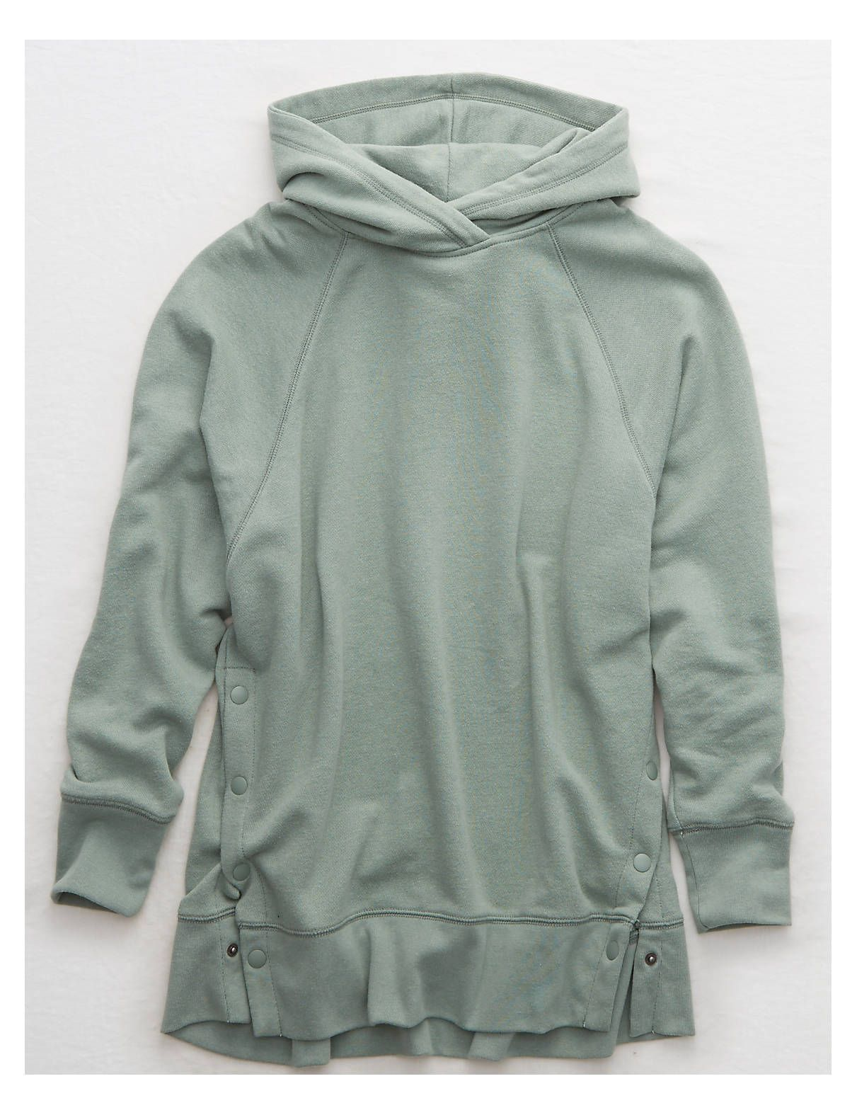 Aerie Side Snap City Hoodie Overcast Green American Eagle Outfitters Hoodies Snap Hoodie Mens Outfitters [ 1575 x 1211 Pixel ]