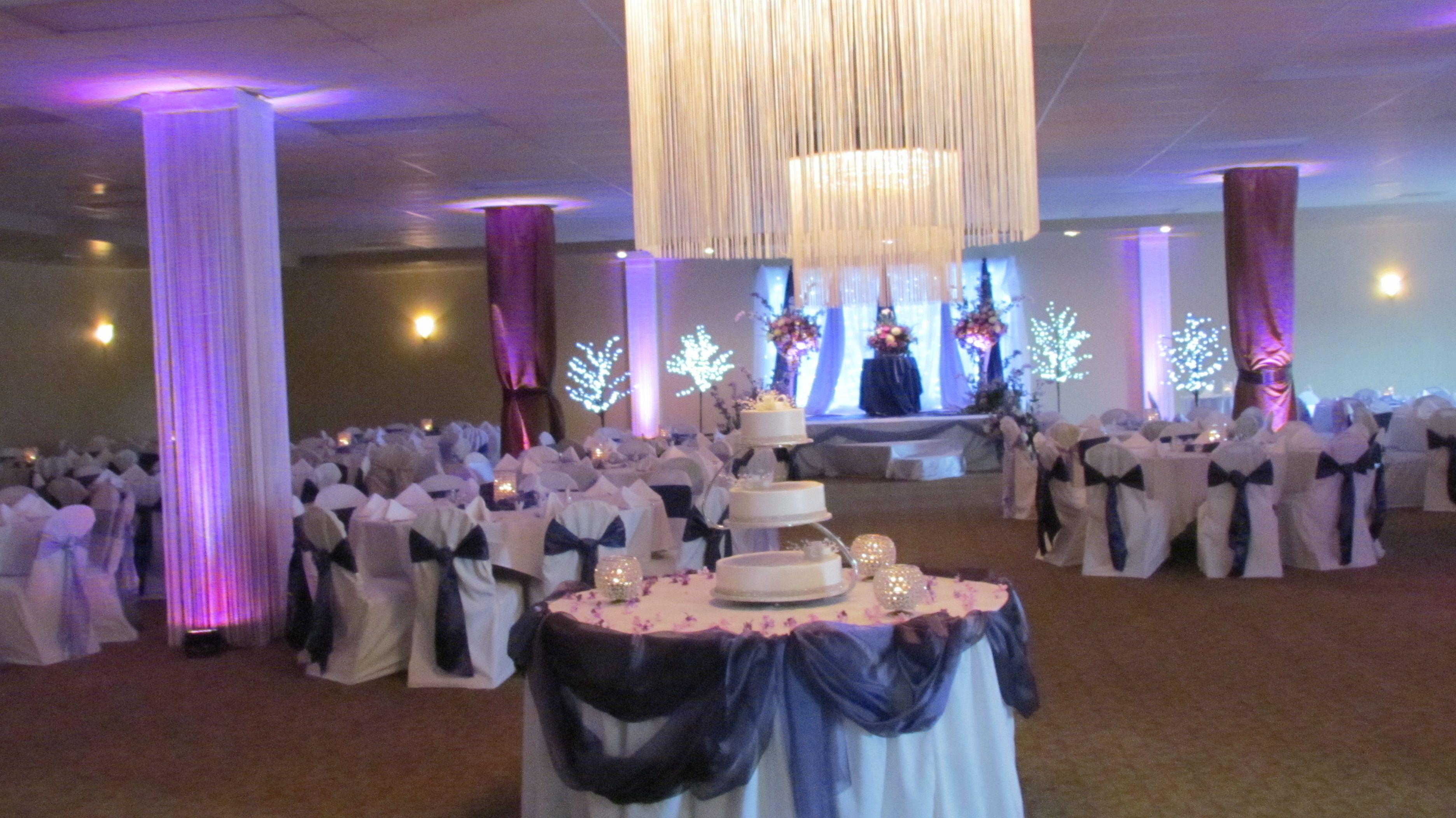 Black And Purple Wedding Reception purple themed wedding puple