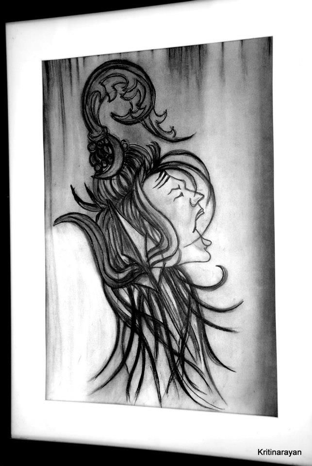 Shiva pencil sketch