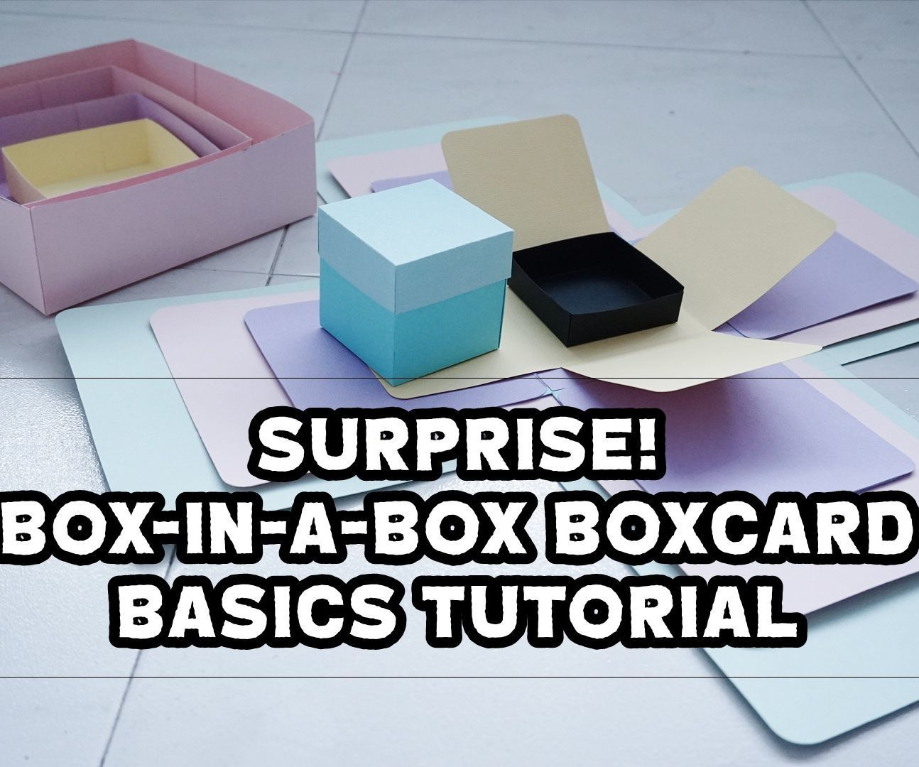 Have you ever wanted to wow someone with many surprises in a simple & heartfelt manner?Well.. This SURPRISE! Box-in-a-box Explosion Box Card design is a special way to do so! All you need to do is to learn the basics for this design and then fill up the spaces with your own inspirations and creativity!The idea of this huge box-in-a-box exploding box card is to make your gift recipient enjoy the excitement of what lies within one box after another. The fun part? Sizes of each box within o...