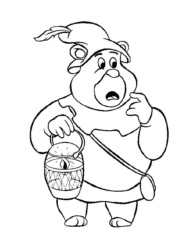 gummi bears 3 | Bear coloring pages, Vintage coloring ...