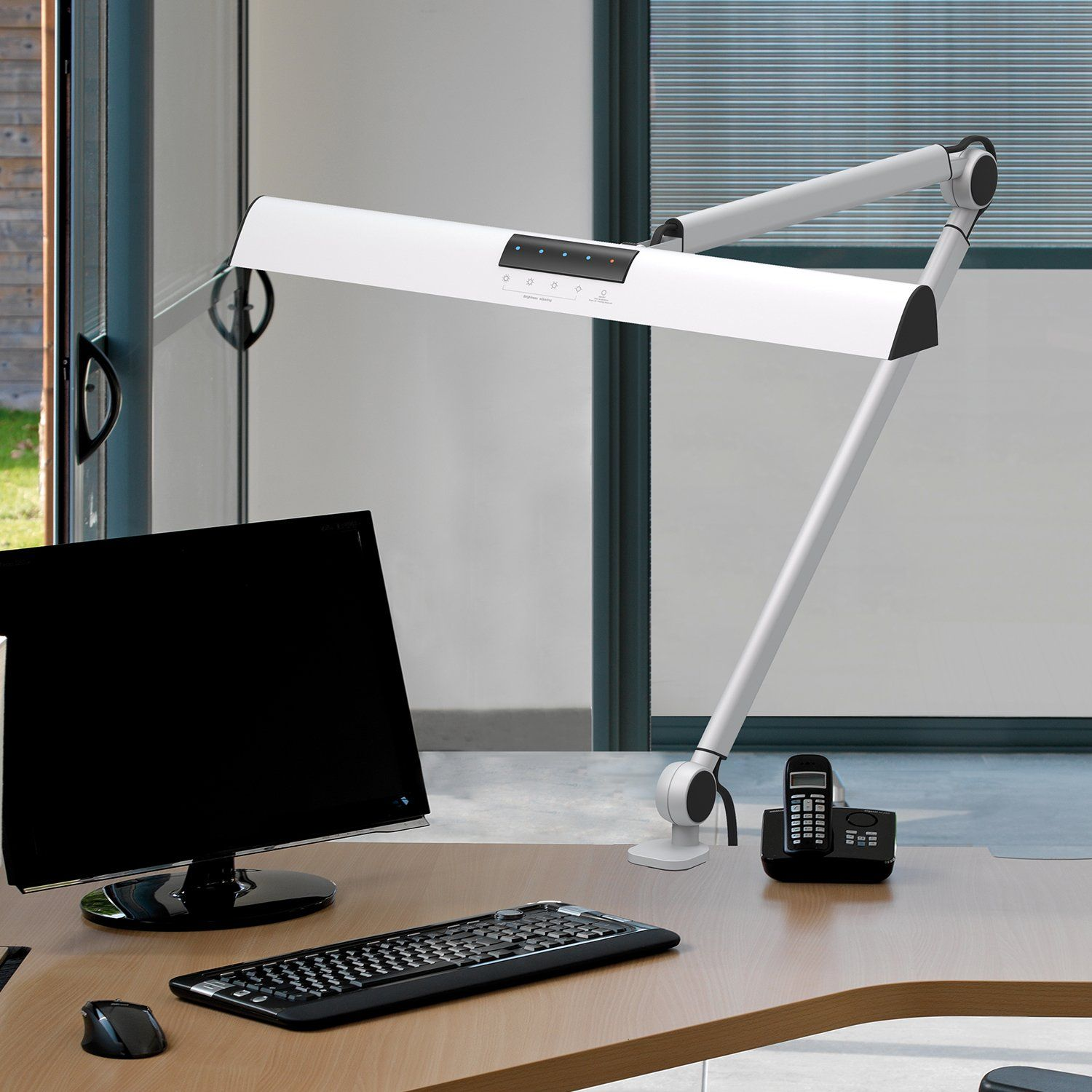 Youkoyi A509 Led Swing Arm Architect Desk Lamp Clamp Drafting Table Lamp For Reading Working 2 Lighting Modes 4level Dimmable Ey Architects Desk Desk Lamp Desk