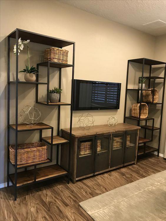 shelf decor living room; floating shelf decors; open ...