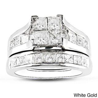 @Overstock.com - Miadora 14k Gold 2ct TDW Diamond Princess Cut Bridal Ring Set (H-I, I2-I3) - Diamond bridal ring set14-karat white/yellow gold jewelryClick here for Ring Sizing Chart  http://www.overstock.com/Jewelry-Watches/Miadora-14k-Gold-2ct-TDW-Diamond-Princess-Cut-Bridal-Ring-Set-H-I-I2-I3/4821974/product.html?CID=214117 $1,977.99