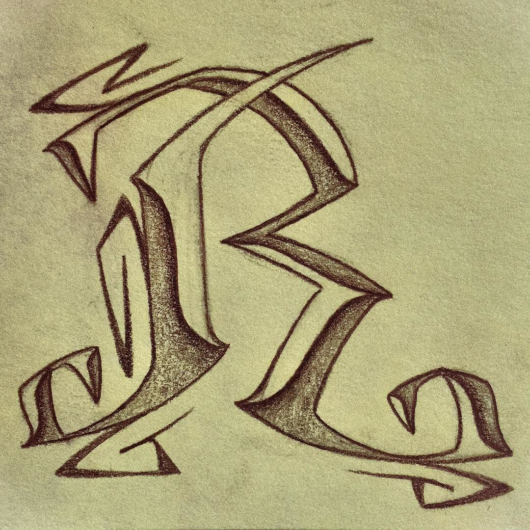 R lettering type typography pencil character letter sketch capital initial draw drawing art artist illustration