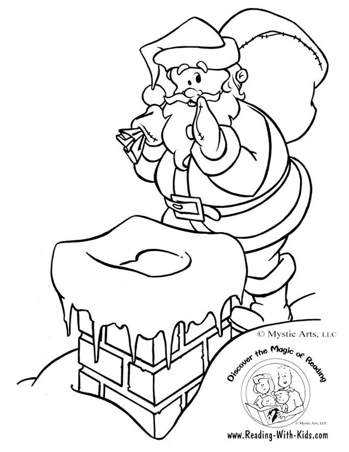 Christmas coloring page kids craft Pinterest Santa, Christmas - new christmas abc coloring pages