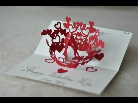 Your Beginners Guide to Making PopUp Books and Cards – Free Valentines Card Templates