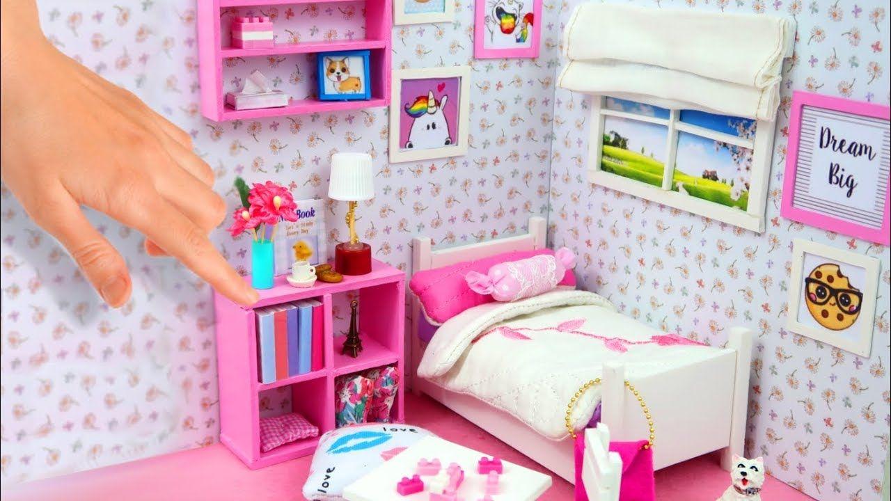 Habitación Miniatura De Para Muñecas En YoutubeBarbie Casas Diy rxCBdoe