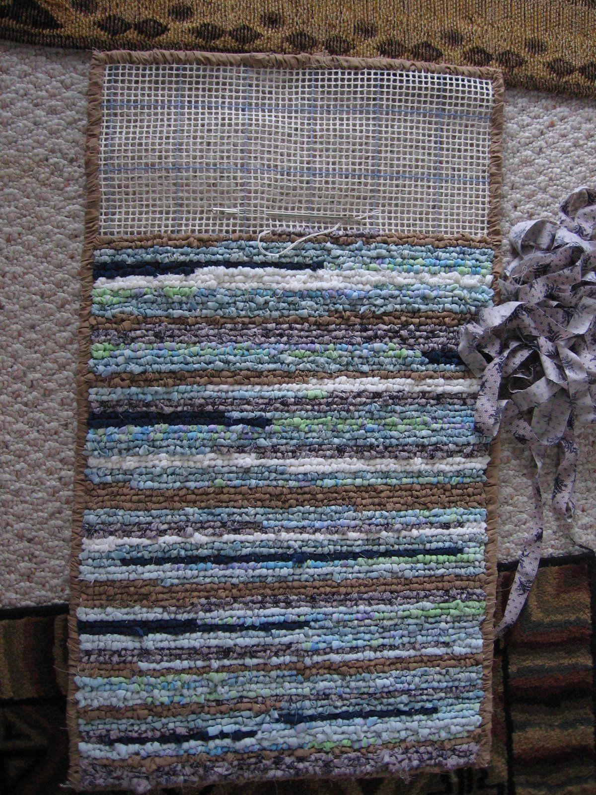 Diy Rag Woven Rug Using Fabric And