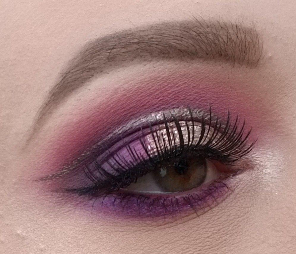 Purple glitter eyeshadow Eyeshadow, Eyeshadow looks