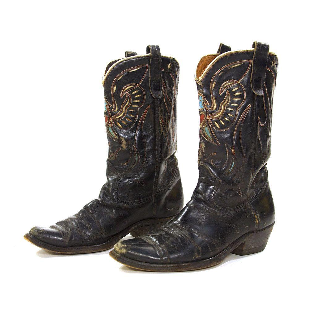 e089b31a943 50s Texas Eagle Cowboy Boots / Vintage 1950s Texas Boot Company ...