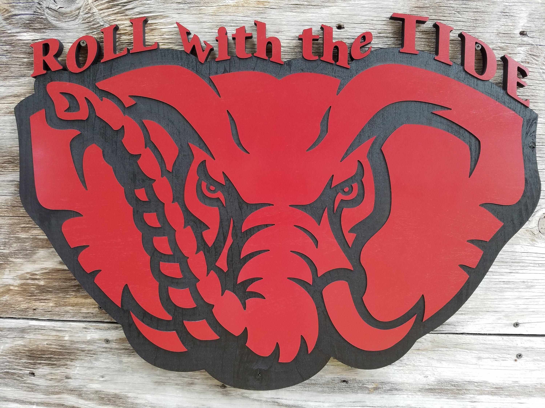 Alabama Crimson Tide Football Decor Bama Man Cave Sign ...