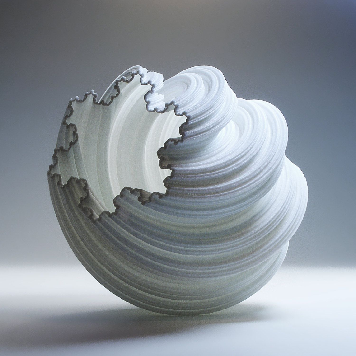 clay vase printed experiment vormvrij ceramics by lutum ddw and