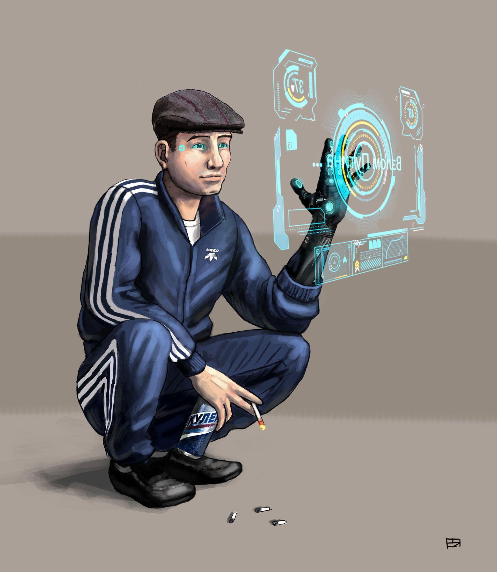 hardbass (With images) Cyberpunk character, Shadowrun
