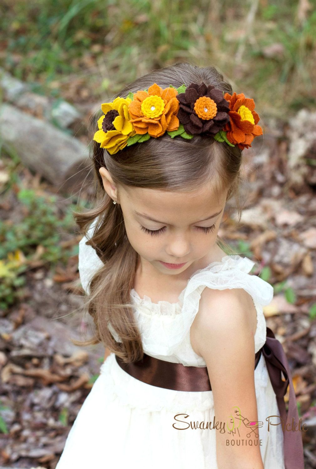 Fall Headband Wool Felt Flower Headband by SwankyPickleBoutique ... 21689d48ea3