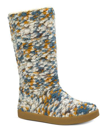 Sanuk Dusty Teal Speckle Toasty Tails Knit Boot - Women