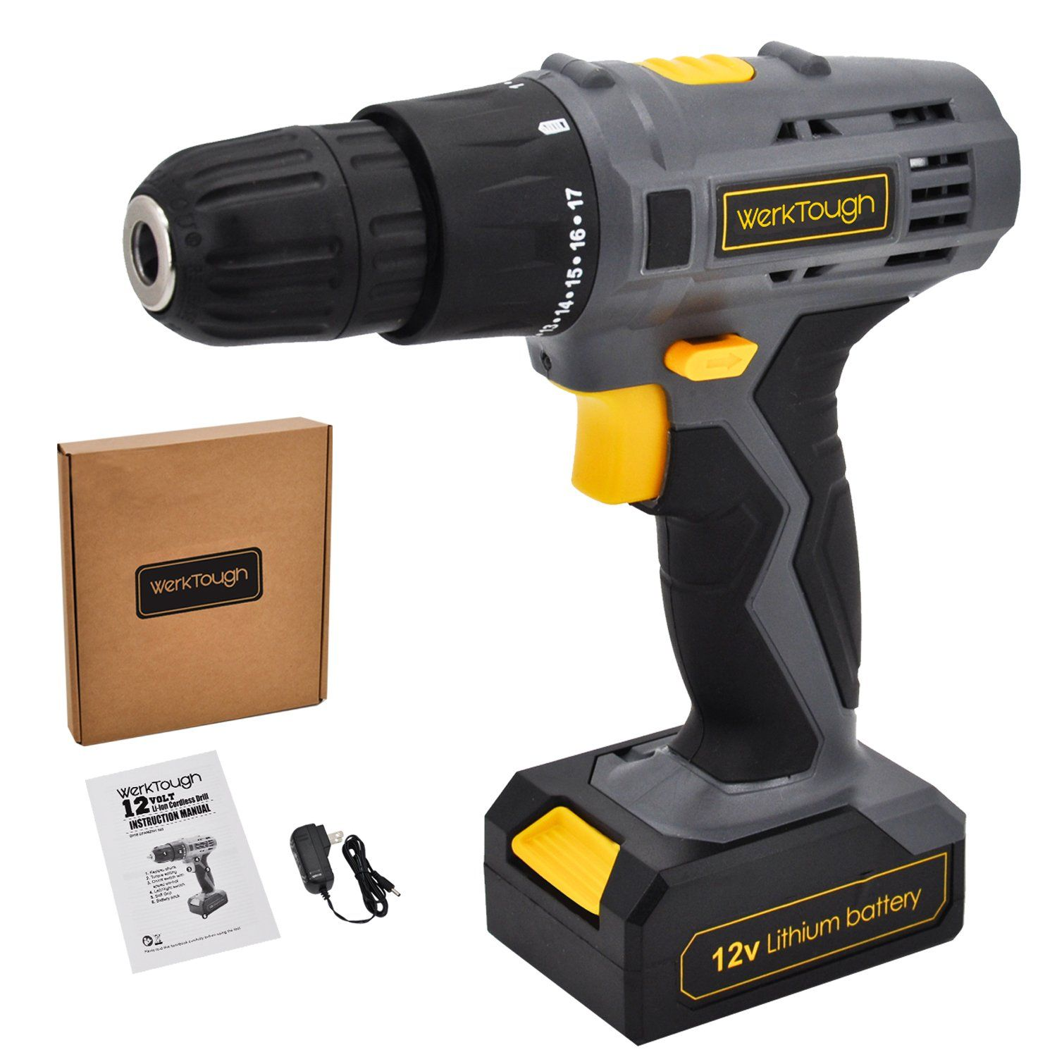 Werktough D018 12v Cordless Drill Driver Powerful Screwdriver Lion Battery With Charger To Find Out More Check Out Photo Link This Is An Affil Elettronica