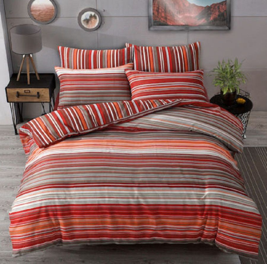 Ombre Duvet Cover Set King Size Double Super Single With Pillowcase Printed New