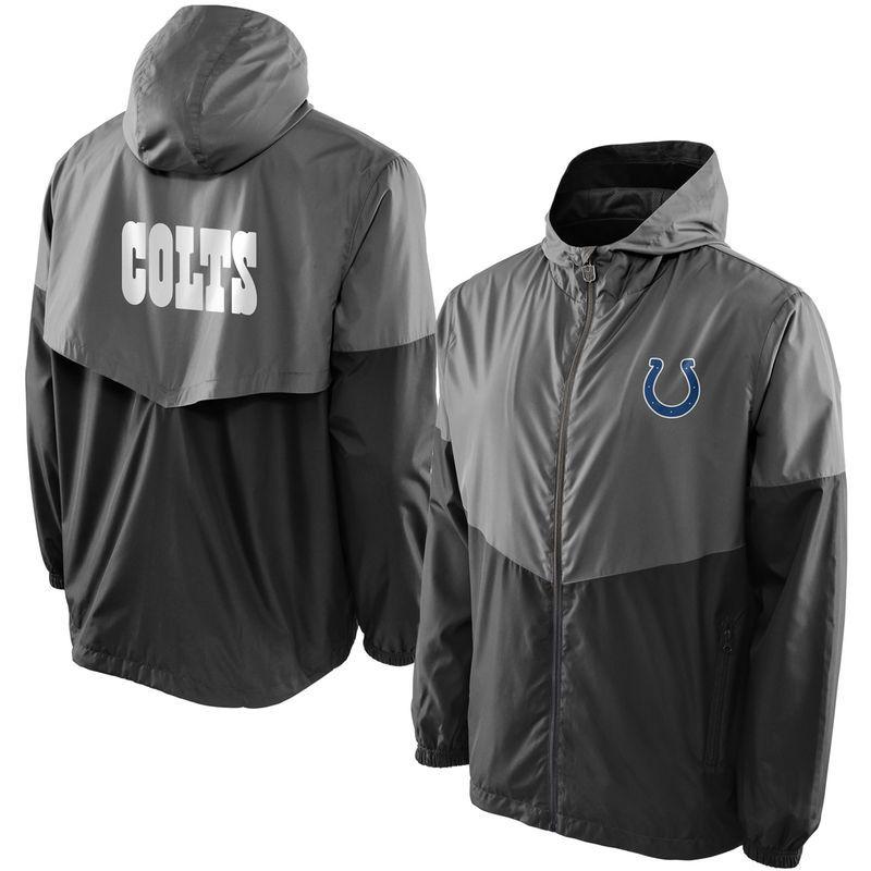 fda254dc7 Indianapolis Colts NFL Pro Line Color Block Vent Shell Big   Tall Jacket -  Charcoal